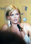 Charlize Theron at the press conference for Monster.  (Photo by Kirsten Greco)